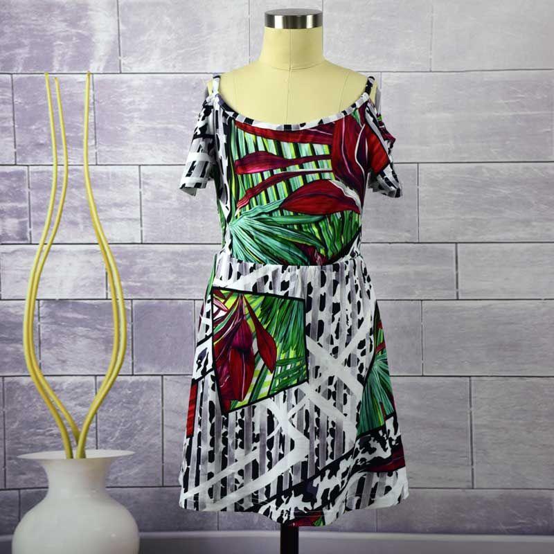 Tropikal ormanlar tarzı anne kızı elbiseler Aile Eşleştirme Kıyafetler Avrupa ve Amerika anne ve kızı kıyafetleri eşleştirme