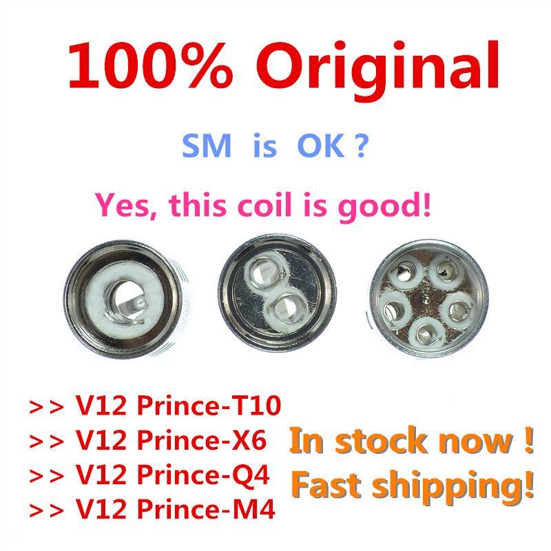 in stock!!100%Original Prince Cloud Beast Coil Head Replacement V12 Q4 X6 T10 M4 Coils Massive Vapor Vape Core Tank