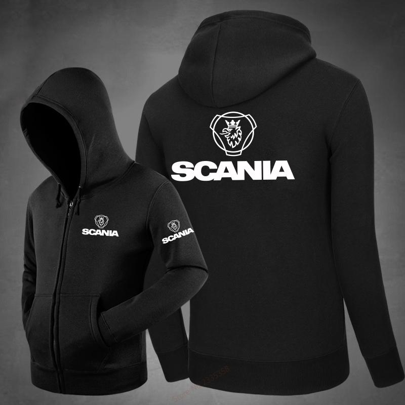 2018 Winter Autumn Men Zipper Scania Sweatshirt Streetwear Fleece ... 6d6783d0b282