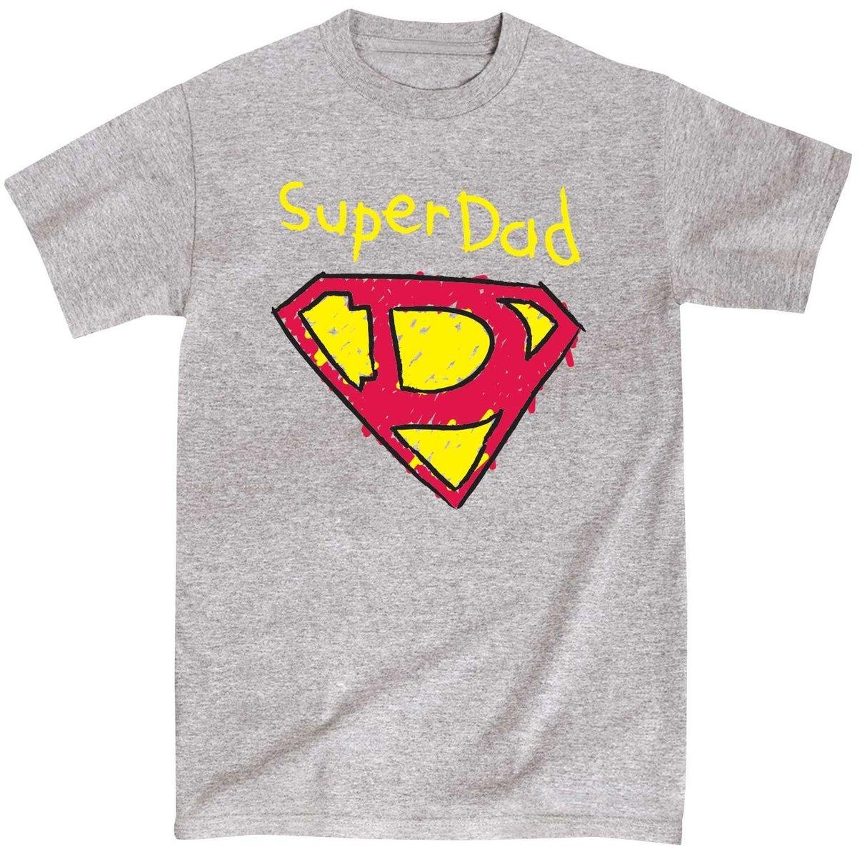 a089d829e Super Dad Father's Day Gift Daddy Comic Sketch Superhero Funny Mens T-Shirt  Design Short Sleeve Tee Shirt Round Neck T Shirt