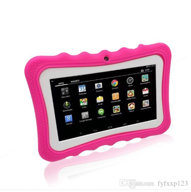 TOP Kids Tablet PC 7 inch Quad Core children tablet Android 4.4 Allwinner A33 google player wifi big speaker protective cover A151