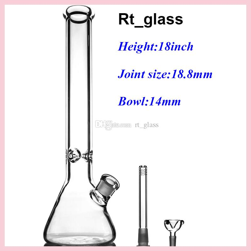 glass water pipe thick Beaker 9mm Bongs 18 inches With elephant Joint Super Heavy glass pipe oil rig with smoking accessories