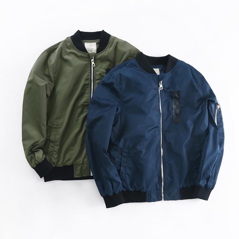7eaf1c43050e 2018 Spring Autumn Jackets For Boy Coat Bomber Jacket Army Green ...