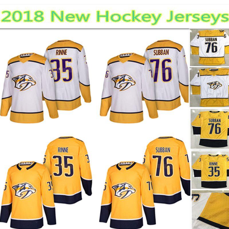 d8639c92352 ... 2018 nashville predators jersey mens 35 pekka rinne 76 p.k. subban  hockey jerseys 100 stitched embro