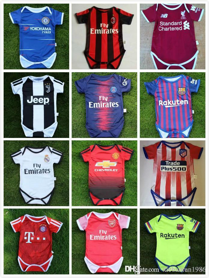 Real Madrid Camisetas De Fútbol Para Bebés 2018 2019 Club De París Manga  Corta Para Niños Camiseta De Fútbol Infantil Pogba Ozil Para Niños Por ... aba78aa74b29a