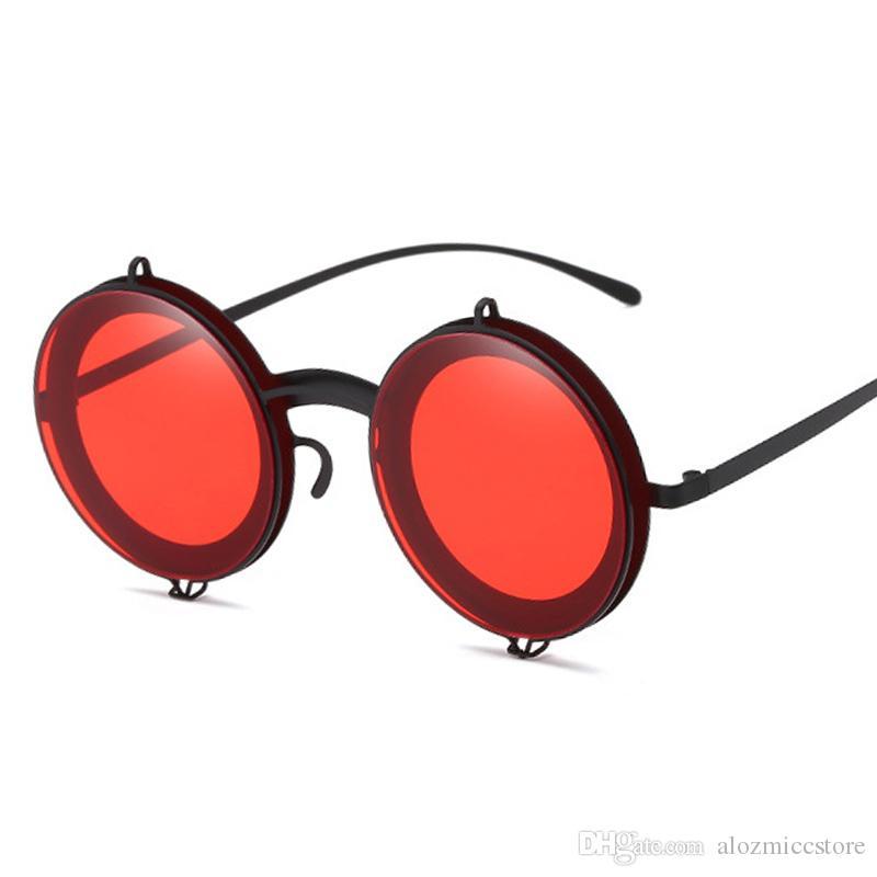 937868e27c56 New Fashion Vintage Round Sunglasses Brand Designer Women Men Summer ...