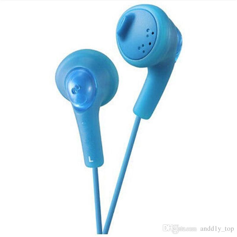 Gumy Gummy Kopfhörer Ohrhörer HA-F160 HA F160 Bass DJ Kopfhörer 3,5 mm Kopfhörer ohne Mikrofon für Iphone 6 5 Ipad Samsung HTC mit Kleinpaket