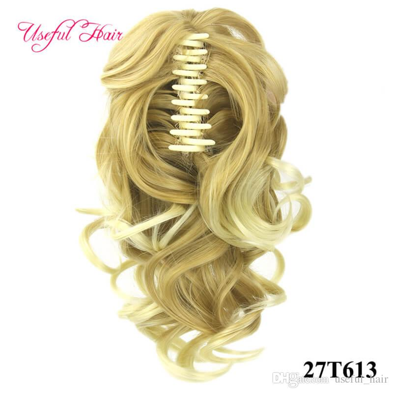 Cheap Valentines beauty Ponytail claw clip hair extension Short Ponytails Curly Synthetic Pony Tail Hairpiece Claw Ponytail for black women