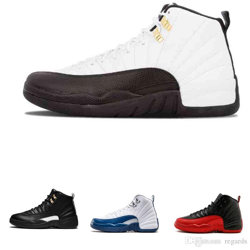 e2cf01058 2019 High Quality 12 12s Mens Basketball Shoes Sneakers OVO White Gym Red  Dark Grey Women Basketball Shoes Taxi Blue Suede Flu Game CNY From Regards,  ...