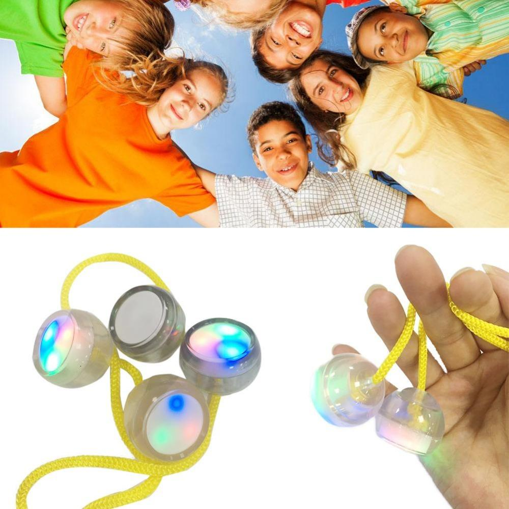 Flashing LED Yoyo Light Up Party Colorful Decompression fingertips yo-yo Move Toys Release For ADHD OCD Kids Boy Adult Gift
