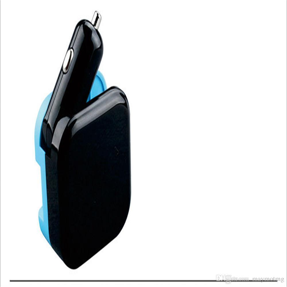 NOUVEAU Dual USB Chargeur De Voiture 2 EN 1 Voyage Adaptateur Universel Numérique LED Affichage 2.1A Rapide De Charge De Surveillance De Tension Pour apple Samsung