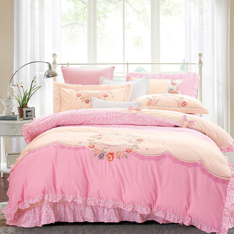 bedding piece summer purple sets sales shop xl white cover extra on twin plush hot cute short fadfay romantic girls duvet set long ruffle