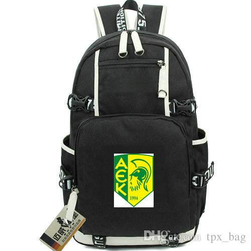 Larnaca daypack AEK FC Larnaka backpack 1994 football club knapsack Soccer schoolbag Computer rucksack Sport school bag Outdoor day pack