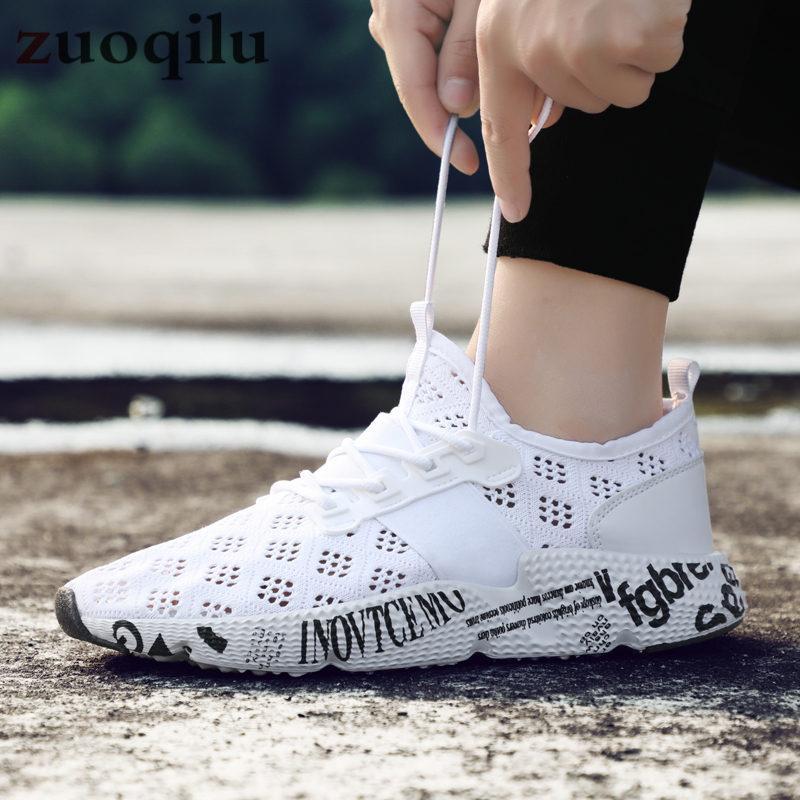 c44ebb3dfa96b Compre Zapatos Ocasionales De Los Hombres Zapatos Tenis Tejidos Respirables  Tenis Masculino Zapatos Hombre Sapatos Zapatillas De Deporte De La Marca Al  Aire ...