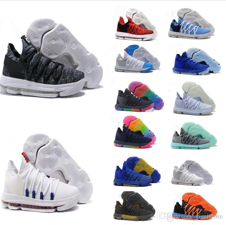35a974bf8ca1b New Zoom KD 10 Anniversary University Red Still Kd Igloo BETRUE Oreo Men  Basketball Shoes USA Kevin Durant Elite KD10 Sport Sneakers KDX Youth  Basketball ...