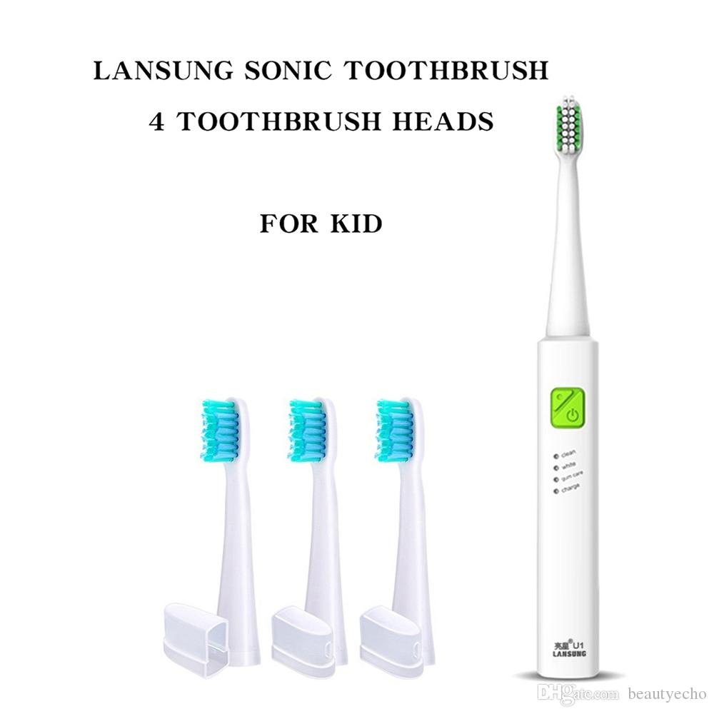 lansung sonic electric toothbrush quick charging 2min timer