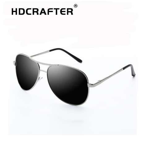 2687f9f137 HDCRAFTER Pilot Sunglasses Men Polarized Uv400 High Quality Retro Vintage  Men Sunglasses Polarized Driving Sunglasses For Male Eyewear Designer  Sunglasses ...
