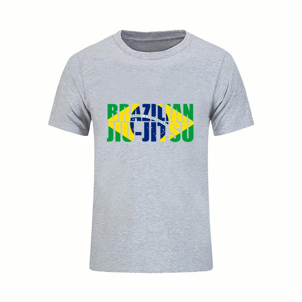 d8515dc3dc Compre Hipster T Shirt Brasileiro Jiu Jitsu Bjj T Shirt Dos Homens Brasil  Bandeira Algodão Plus Size 3xl Camisas De Manga Curta T De Fitness Homens  Hip Hop ...
