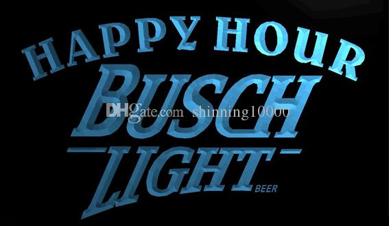LS761-b-Busch Light Beer Happy Hour Bar 3D LED Neon Light Sign Customize on  Demand 8 colors to choose
