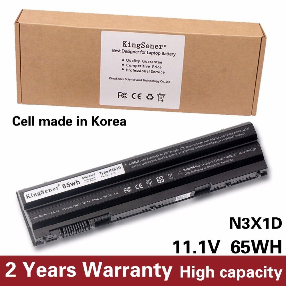 KingSener Korea Cell 65WH N3X1D Laptop Battery for DELL Latitude E5420  E5430 E5520 E5530 E6420 E6520 E6430 E6440 E6530 E6540