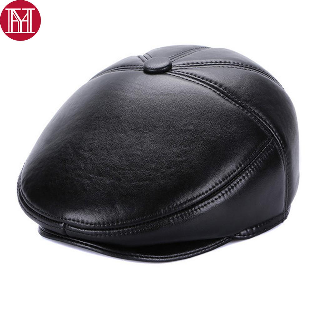 bb2693ed67c Hot sale casual men real sheepskin leather berets hats winter jpg 1000x1000 Mens  sheepskin hat