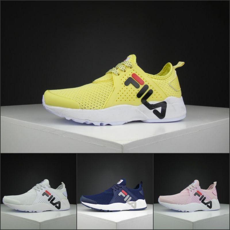 bd7580ba9df Compre Moda FILA Novo Leve Homens Mulheres Amarelo Azul Tênis Para A  Primavera Verão Esporte Sapatos Ao Ar Livre Sapatilhas Baratas EUA 5.5 10  De Journeys