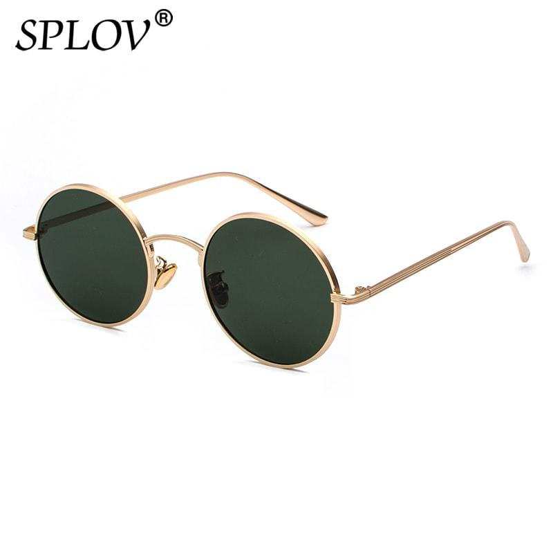 7ae91308dae SPLOV Vintage Men Sunglasses Women Retro Punk Style Round Metal Frame  Colorful Lens Sun Glasses Fashion Eyewear Gafas Sol Mujer Sunglasses Cheap  Sunglasses ...