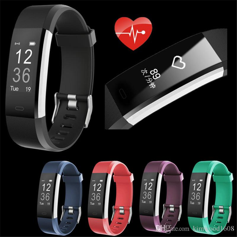 2018 115 plus Smart Band Fitness Armband Tracker Schrittzähler smartBand Uhr Herzfrequenzmessung Armband pk ID107 fit bit miband
