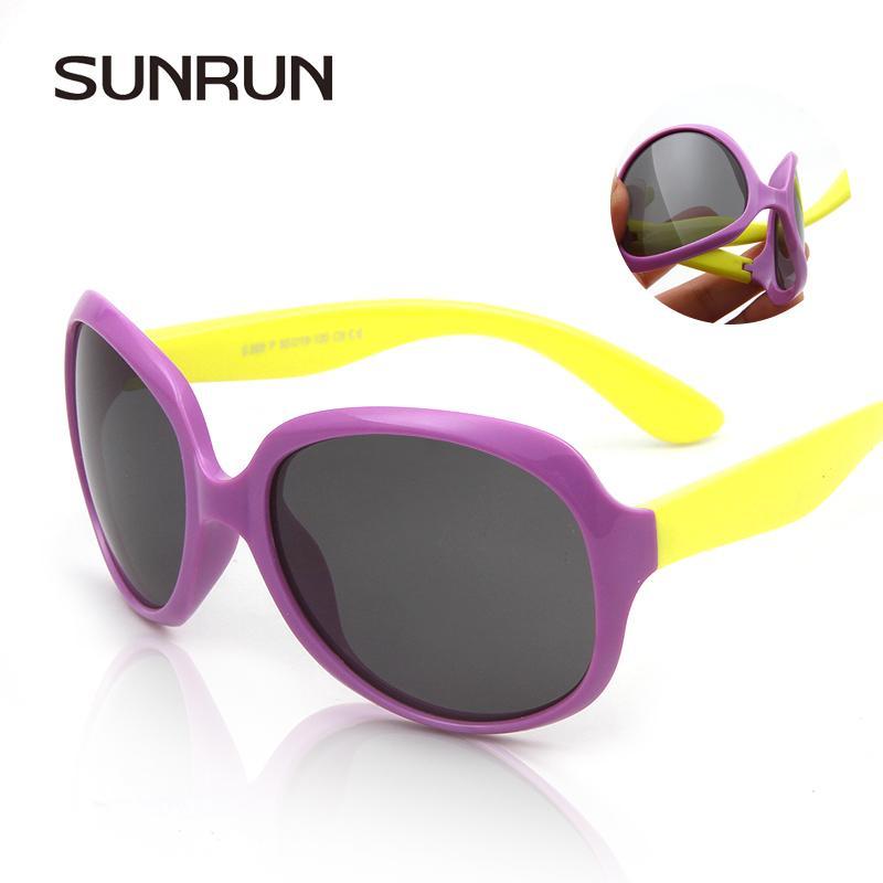09b8ed0fa3 SUNRUN Children s Brand Polarized Baby Sunglasses UV400 Protection Boy  Girls Fashion Big Box Colorful Kids Sun Glasses Wholesale