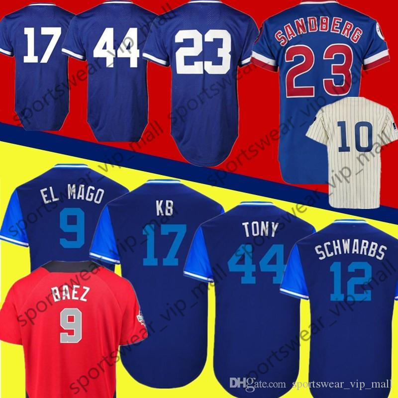 022ed0600 Men Javier Baez ALL STAR WILLY Tony KB El Mago 2018 Players Weekend ...