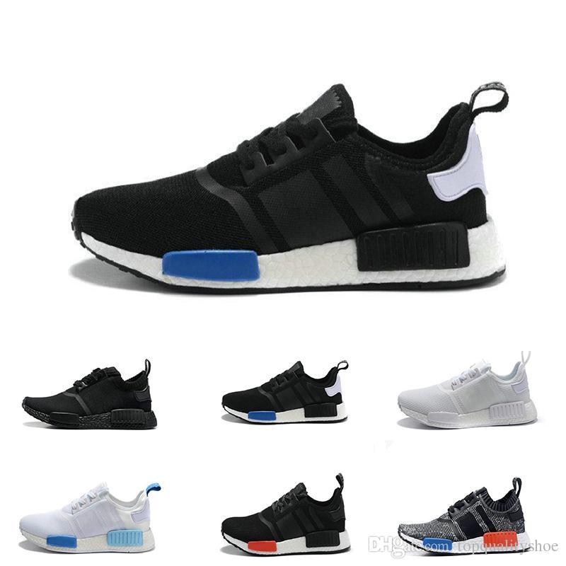f4e22fef60484 2019 Nmd R1 Running Shoes For Men Women Primeknit Classic OG Triple Black  White Beige Runner Sports Sneaker Shoe EUR 36 45 From Topqualityshoe