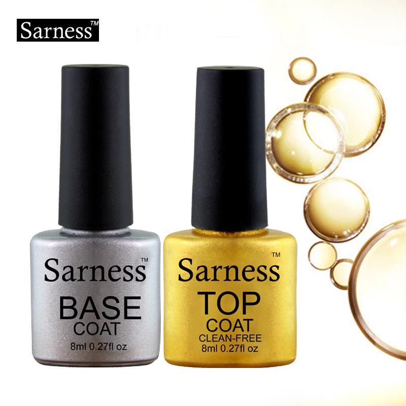 Sarness Base Top Coat Gel Nail Polish Transparent Color Gel Varnish ...