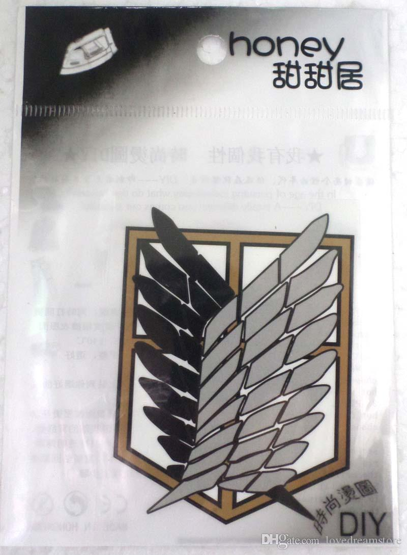 new arrival !Fashion Attack on Titan Logo Iron-on Sticker DIY Accessory Patch Transfer T-Shirt Sticker Phone accessory
