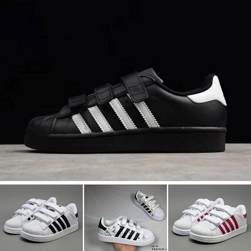 48d54bb5e33 Acheter Adidas Superstar 2018 Chaussures Enfants Superstar Original Blanc  Or Bébé Enfants Superstars Sneakers Super Star Filles Garçons Sports  Chaussures ...