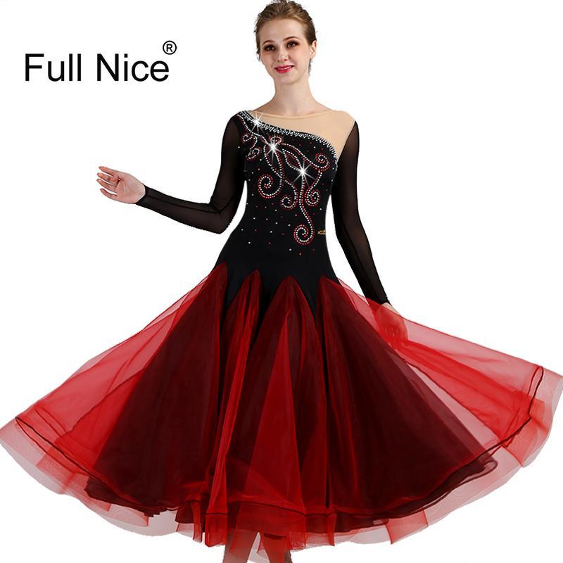 d9e36bee0 2019 New High Quality Ballroom Dance Dresses Long Sleeve Flamenco Dancing  Costumes Red Women Modern Waltz Tango Dancing Dress From Weilad, $181.38    DHgate.