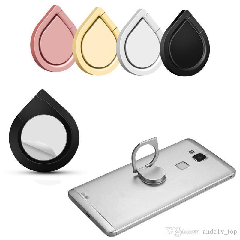 Metall Wassertropfen Ringhalter Handy Ringhalter 360 ° Spinner Smartphone Universal Metallhalter für I6 I7 Galaxy S8 S8edge S7edge Note8