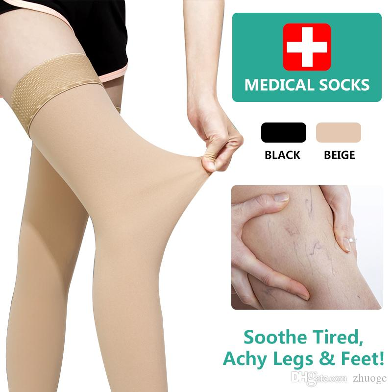 a07b06b7e0b97 2019 Medical Varicose Veins Socks Thigh High Compression Stockings Swelling  Fasciitis From Zhuoge, $14.62 | DHgate.Com