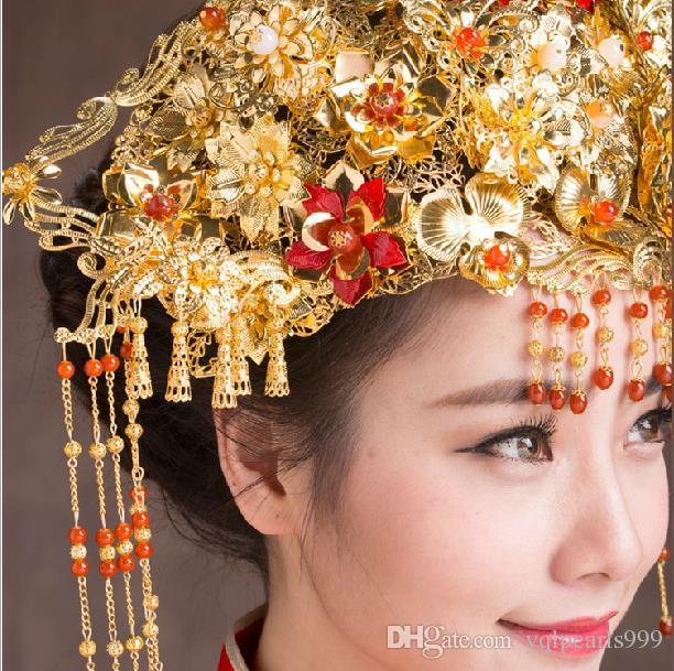 Headdress costume bride hair accessories hairpin hairpin any step shake
