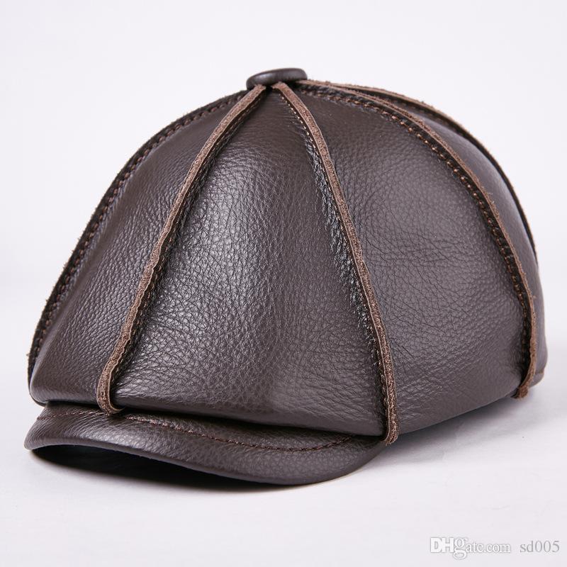 27426f708d71e 2019 Women Men Fashion Berets Autumn Winter Designer Brand Luxury Leather  Black Cap Leisure Outdoor Warm Octagonal Hats 68yg Hh From Sd005