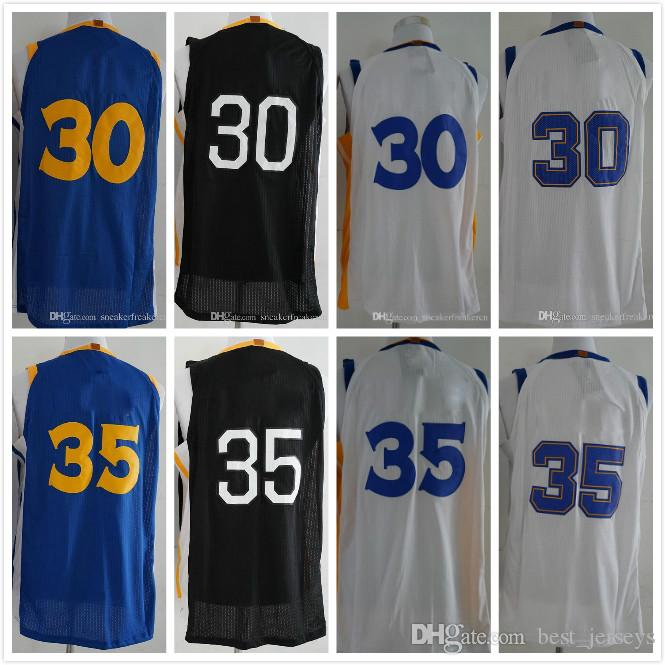 ca2e71da9 2018 New Men s  30 Stephen Curry 35 Kevin Durant Jerseys High Quality  Stitched Basketball Jerseys Top Sales Jerseys Kevin Durant Stephen Curry  Online with ...
