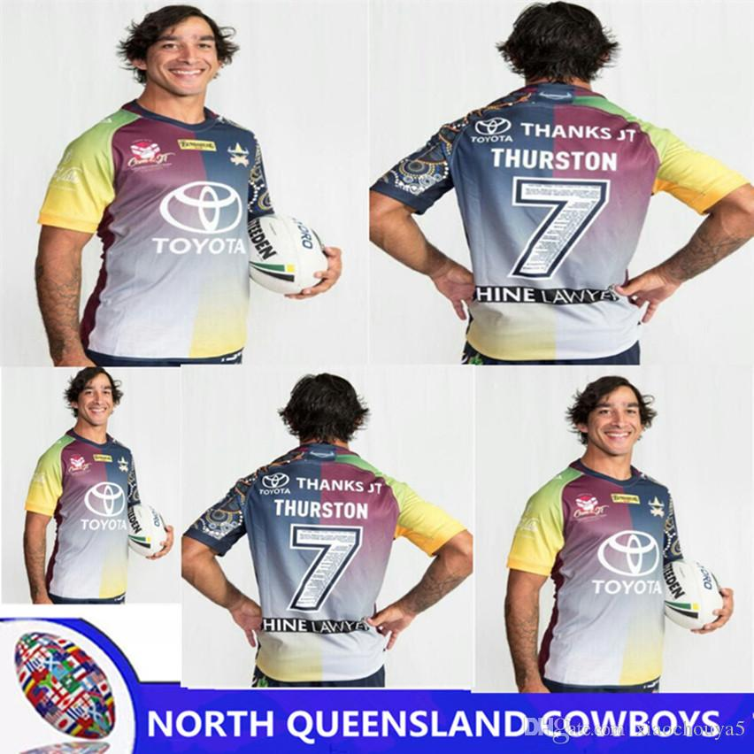49e1a65b2fc 2019 NORTH QUEENSLAND COWBOYS 2018 THURSTON TESTIMONIAL JERSEY Camouflage  Thanks Jt Rugby 17 18 Thurston NRL Super North Shirts Size S 3XL From  Xiaochouya5, ...