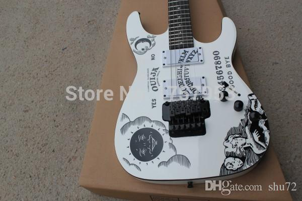 Factory custom shop 2015 Newest Custom white E S P KH-2 Kirk Hammett Ouija white electric guitar hai 4asd