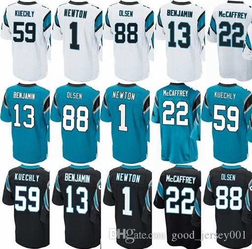 Men 2018 Carolina Panther Jersey  1 Cam Newton  13 Kelvin Benjamin  59 Luke  Kuechly  88 Greg Olsen  22 Christian McCaffrey Home Jerseys New Shorts New  ... b1950b718