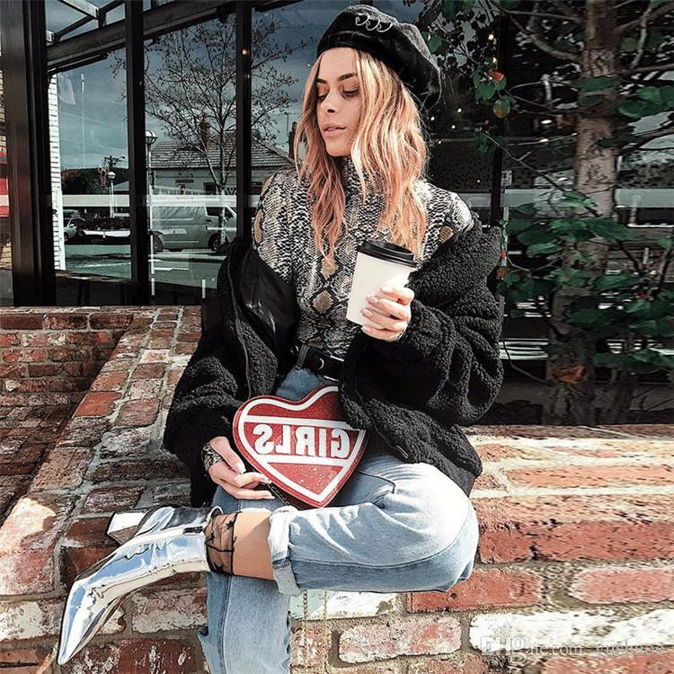 High quality 2018 Snakeskin printing tight Long sleeve base Women Jumpsuit Fashion Show Thin Stand collar Rompers