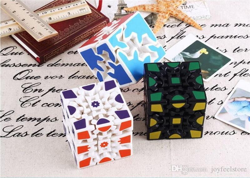 UPS Free Shipping 3D Cube Puzzle Magic Cube 3 x 3 x 3 Gears Rotate Puzzle  Sticker Adults Child's Educational Toy Cube
