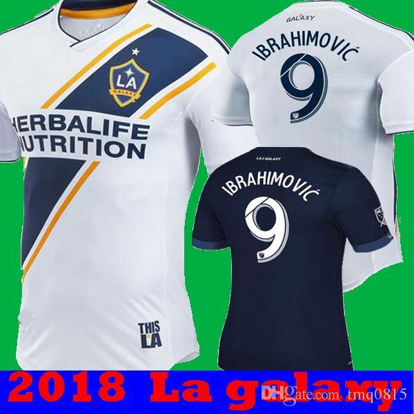 35f41ea4832 New 2018 La Galaxy Zlatan IBRAHIMOVIC Home White Soccer Jerseys 18 ...