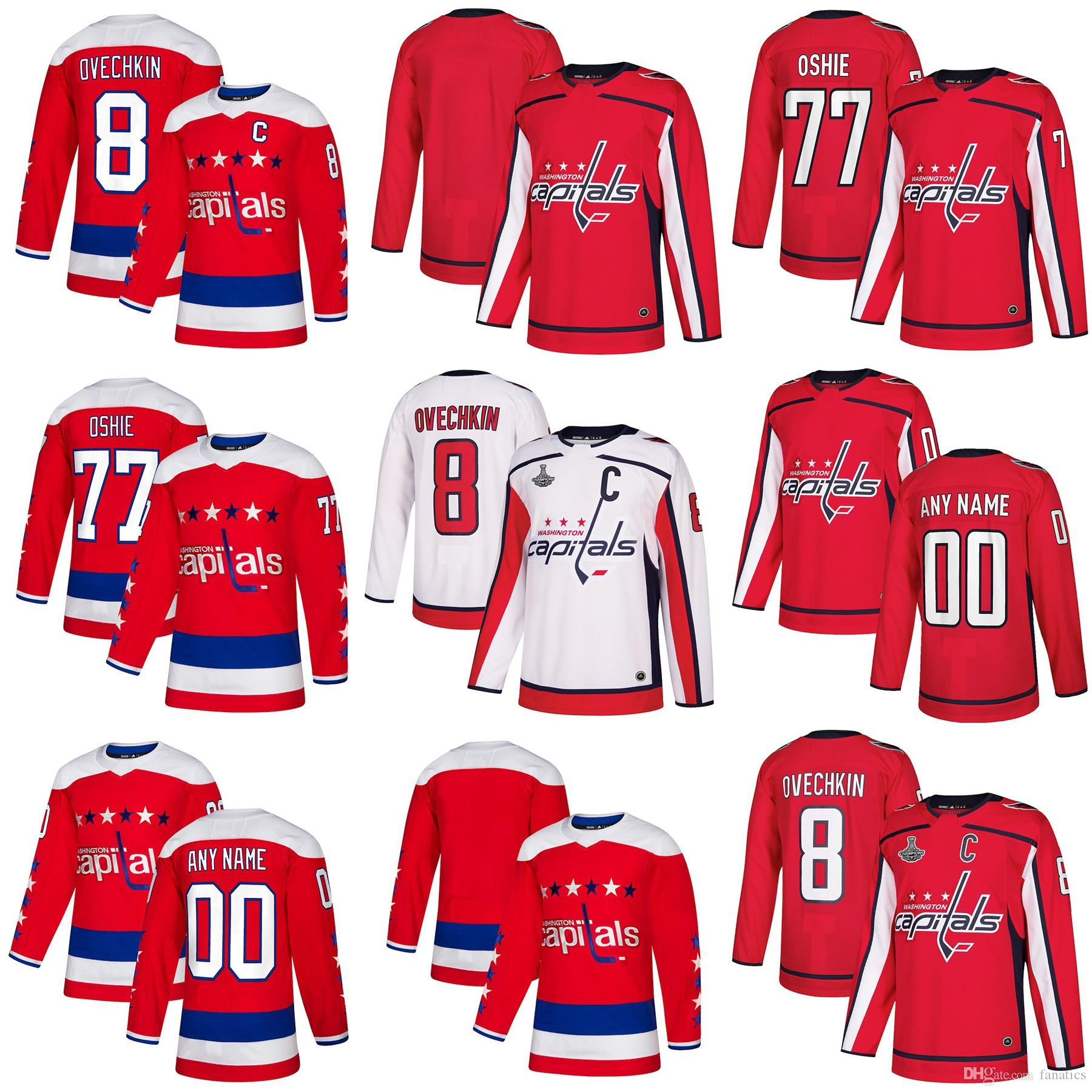 c2d833cb544 2018 Mens Womens Youth Custom Washington Capitals 70 Holtby 8 Ovechkin 19  Backstrom 77 Oshie 92 Kuznetsov 74 Carlson 2 Niskanen Blank Jersey 2018 New  ...