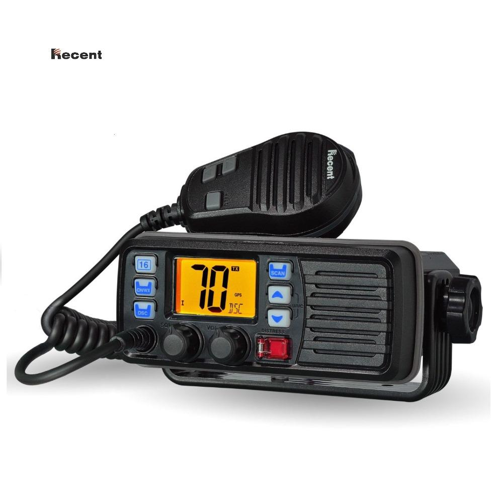 RECENT RS-507M VHF Mobile Marine Radio Float DSC Call Auto-answer Built-in  DSC MMSI Code 156 025-157 425MHz Boater Transceiver