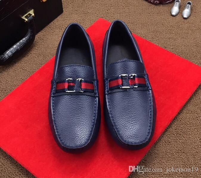 ba6110de28067a Großhandel 2018 Neue Heiße Verkäufe Name Marke Mode Sexy Top Qualität Männer  Wohnungen Designer Männer Schuhe Lace Up Schuhe Herren Freizeitschuhe Von  ...