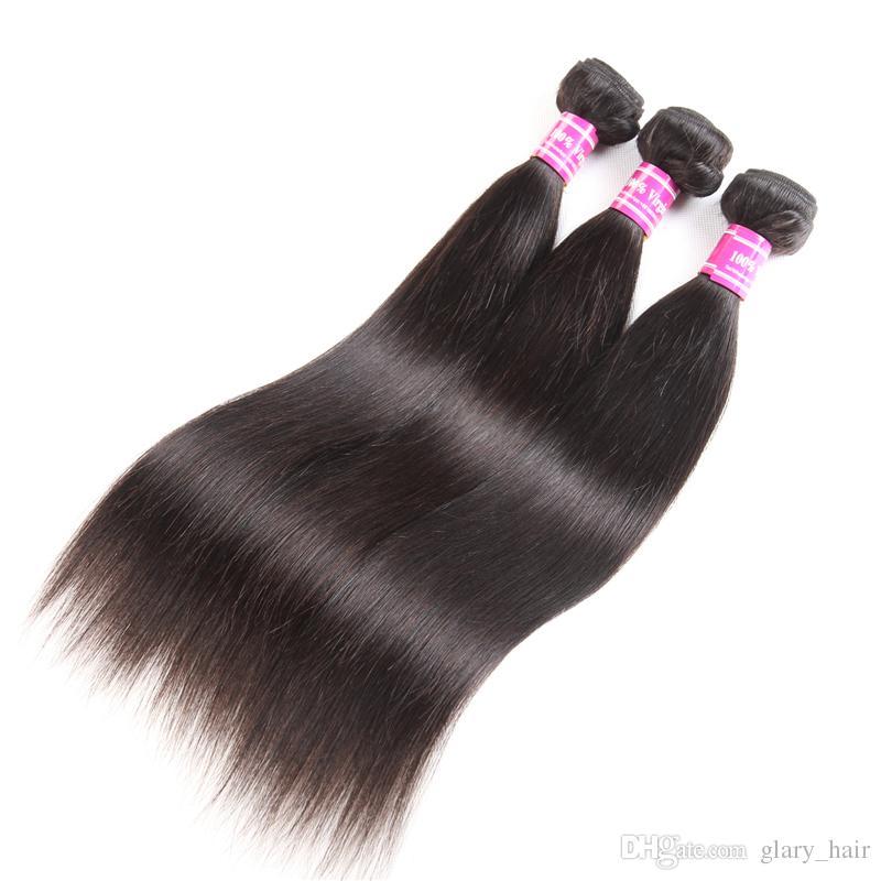 10a não transformados remy brasileiro onda do corpo do cabelo humano onda reta 8-26 inPeruvian indiano virgem cabelo virgem feixes de cabelo extensões